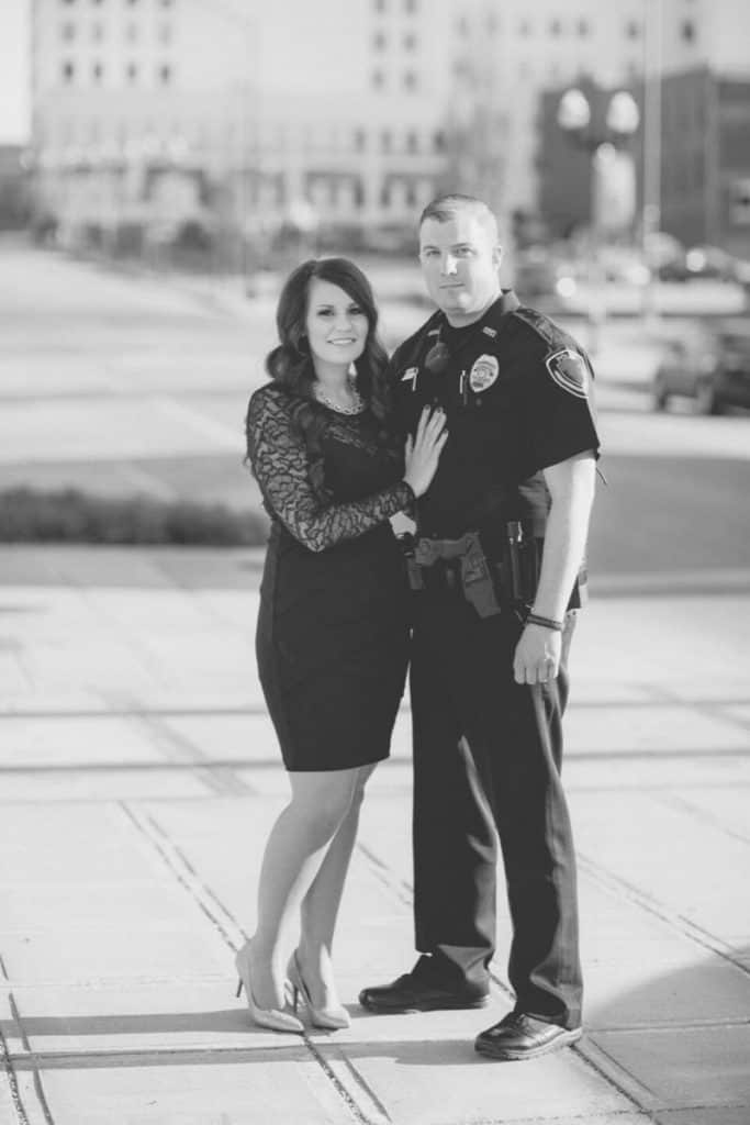police officer and wife
